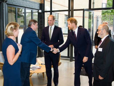 Royal Princes show support for those affected by the Grenfell Tower fire