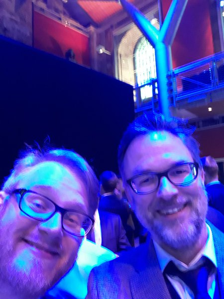 Dan and me turning up for free food and drink at some award ceremony in London (we didnt win anything!)
