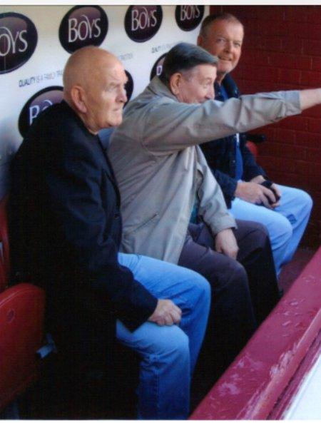 Sharing a love of Burnley FC-Les, Dennis, Alan