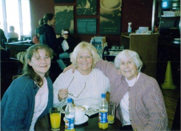 My mom on the right when we went to India with my niece Julie on the left. Love enemies you do much mom xxx