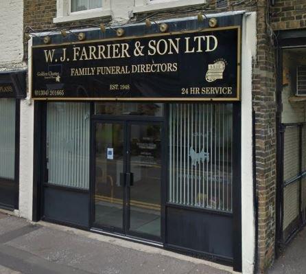 W.J Farrier & Son Ltd, Dover, Kent, funeral director in Kent