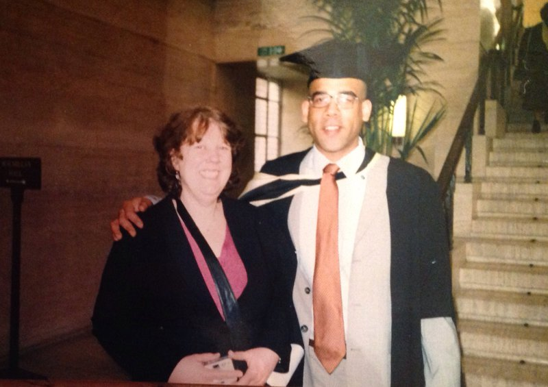 Ed's MA graduation day. A happy day.
