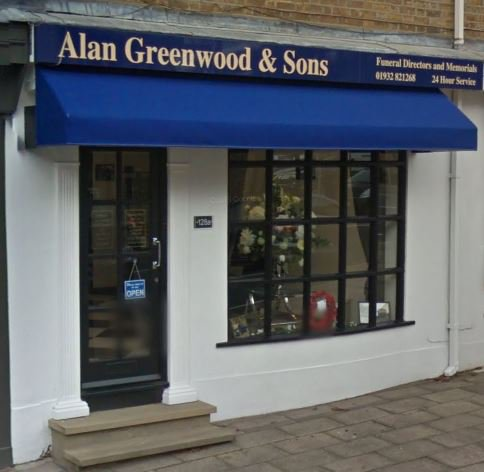 Alan Greenwood & Sons Weybridge, Surrey , funeral director in Surrey