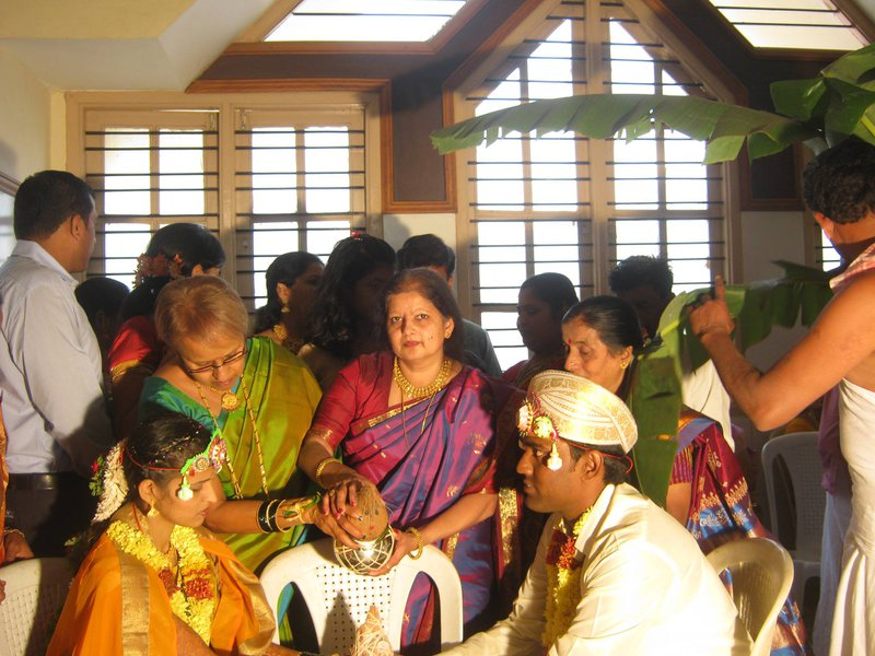 Blessing the Newly Weds