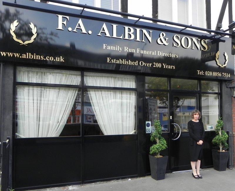 F.A. Albin Welling , Bexley, funeral director in Bexley