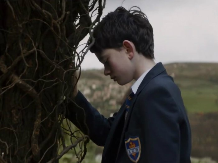 A Monster Calls, with Conor O'Malley, played by Lewis MacDougall