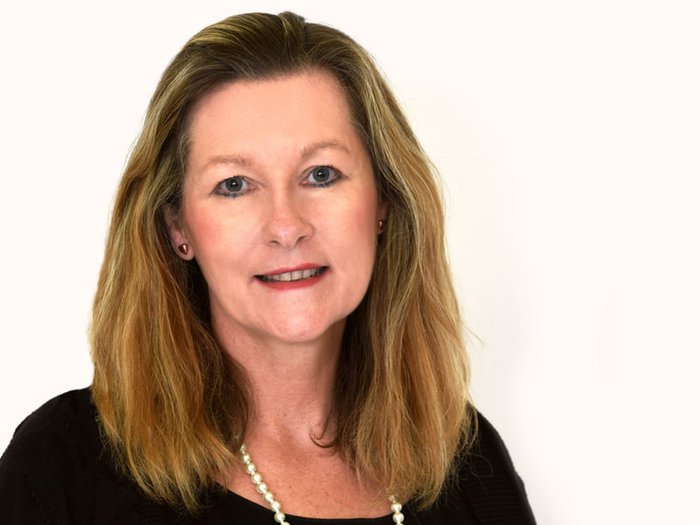 A portrait of Mandie Lavin, chief executive of the National Association of Funeral Directors