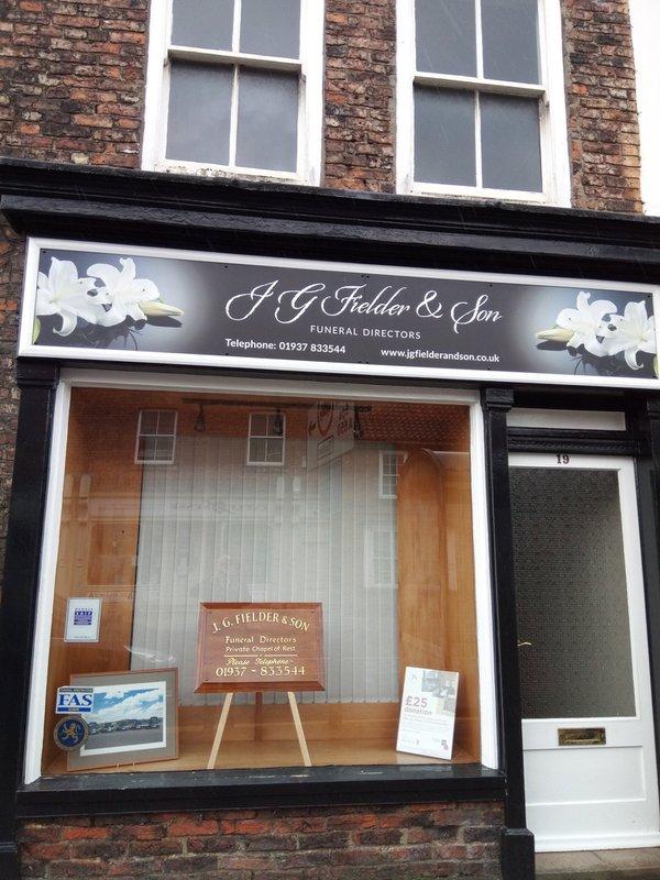 J G Fielder & Son Funeral Directors, Tadcaster, North Yorkshire, funeral director in North Yorkshire