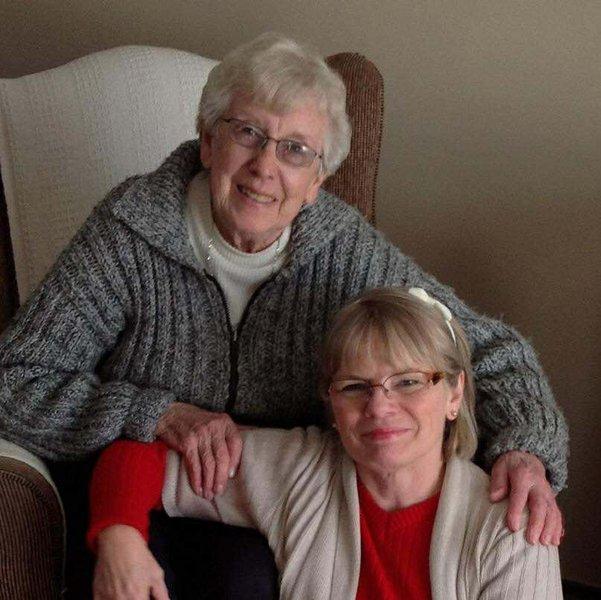 Jane and her Mum (Granny Bea)