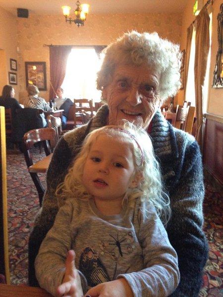 Great-Grandma Marney & Lila xxx