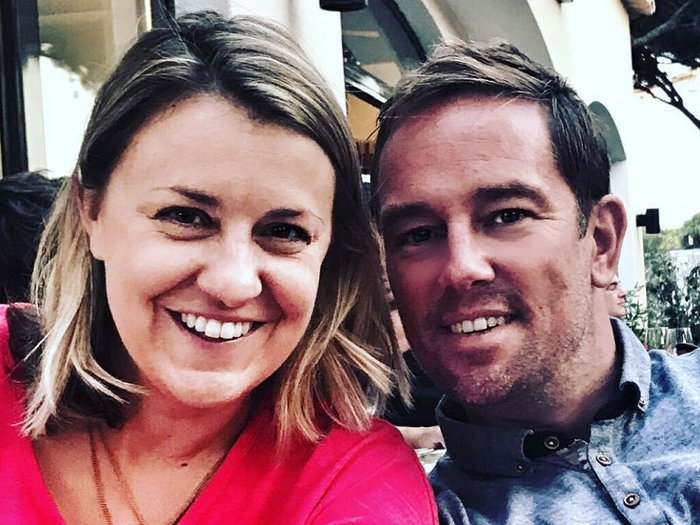 Simon Thomas and his late wife Gemma, who died suddenly last year