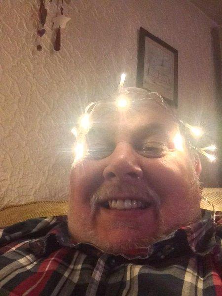 Always joking around... being a Christmas tree