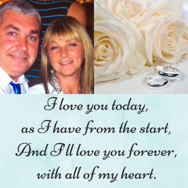 Today should have been so different, il celebrate our wedding Anniversary, but il spend it missing you. Love and missing you more every minute of everyday Xx ❤️💔xX
