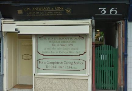 C W Anderson & Sons, Paisley