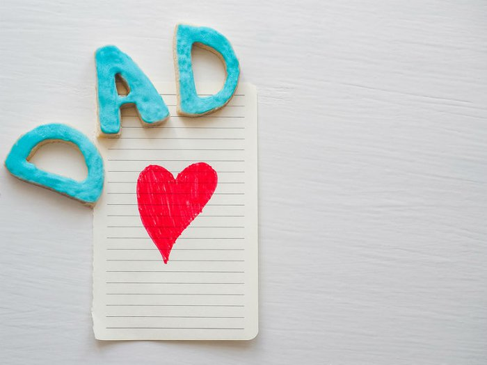 funeral poems for dad- notepad, the word Dad and a love heart