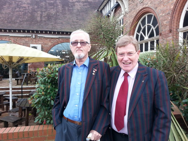 The last Photo of my very dear friend Joe and I outside the Harvester in Enfield.