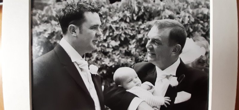 I love this photograph of you  Rob, taken with Dad and baby Harry May 2004