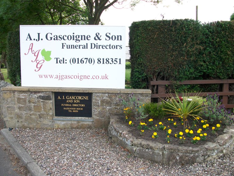 A.J. Gascoigne & Son, Northumberland, funeral director in Northumberland