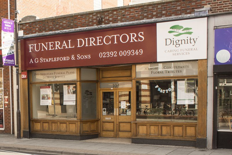 A G Stapleford & Sons Funeral Directors, Fratton Road, Hampshire, funeral director in Hampshire