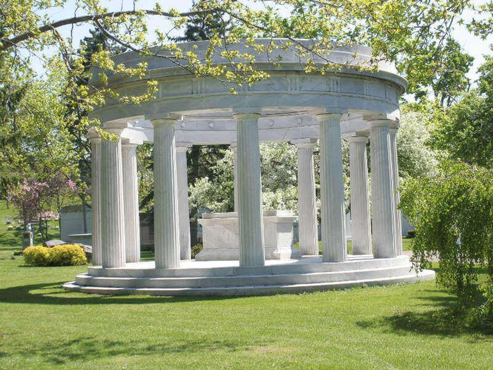 Birge mausoleum at the famous Forest Lawn Cemetery