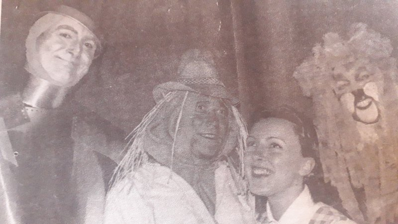 David as The Scarecrow in the WERC production of The Wizard of Oz