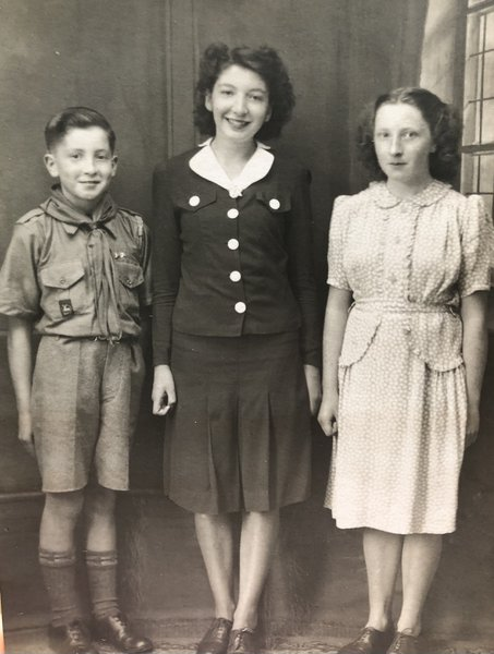 Jim with his two sisters Margaret (belated) and Susan in their younger years.