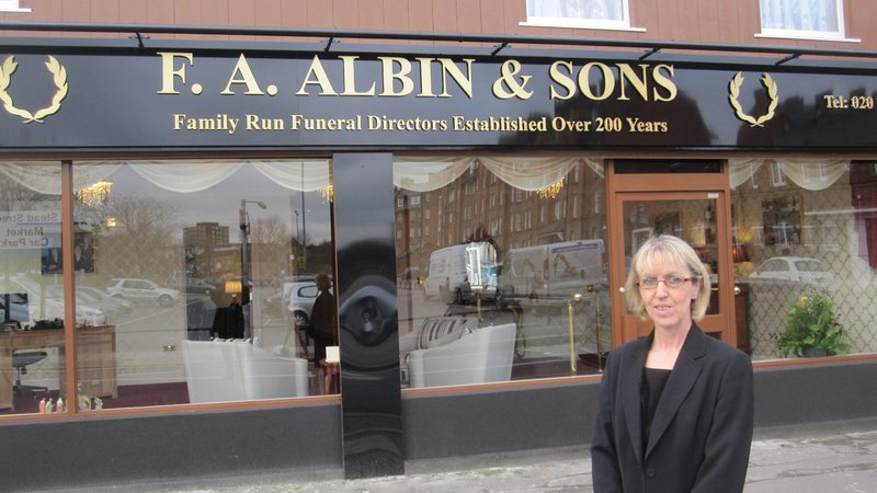 F.A. Albin Walworth, London, funeral director in London