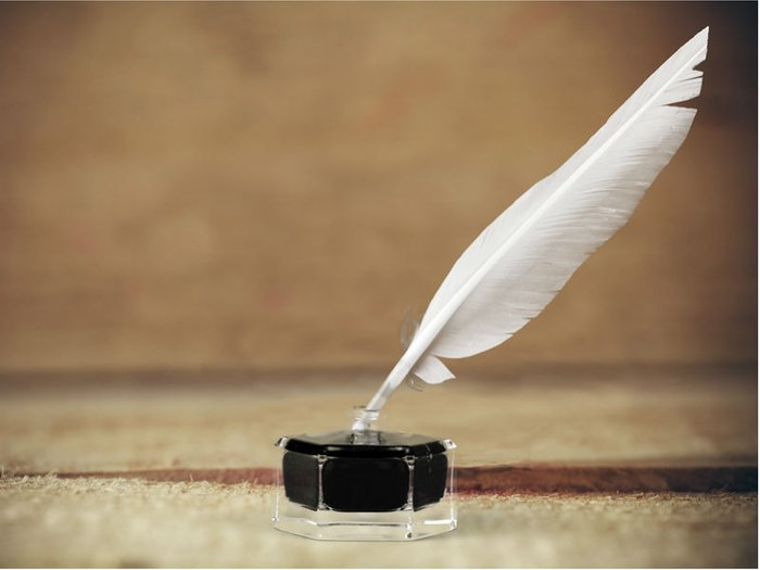 shakespeare funeral readings- a quill pen and ink
