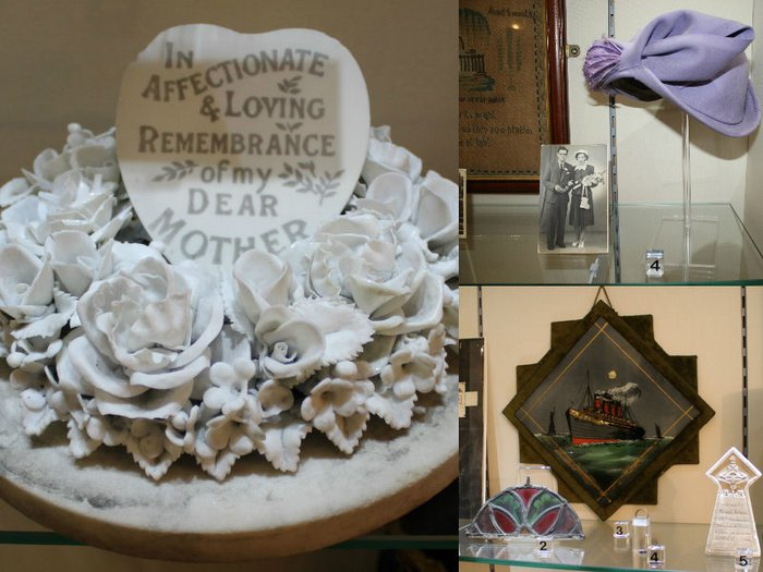 A montage of artefacts featured in The Abbey House Museum's Remembrance exhibition