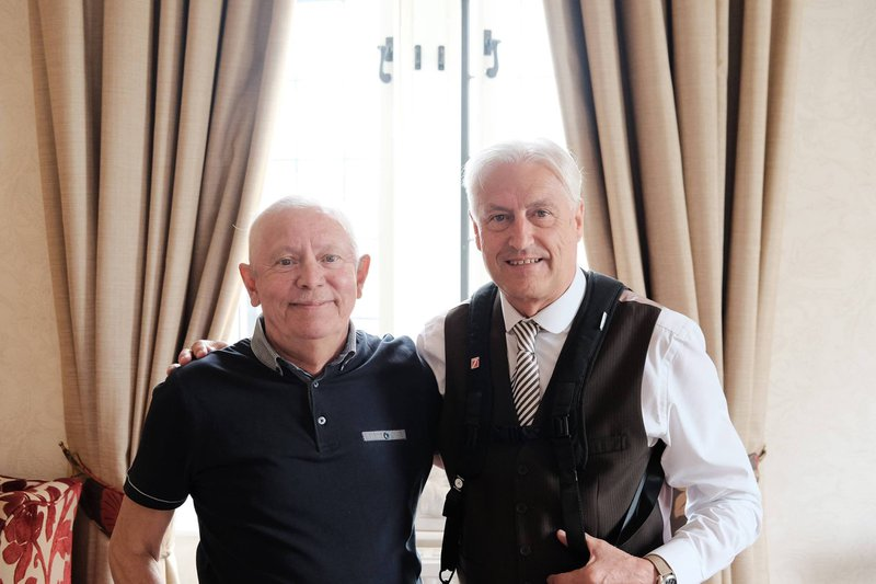 Dad with his long time best friend David Bagin a true gent