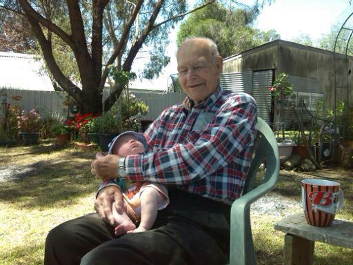 Pa and his name sake William Trevor Amos Dec 2013