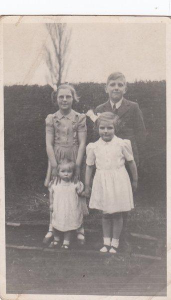 Jack and his 3 siblings Margaret, Barbara and Joan