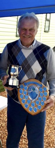 EG Cup Winner 2017. Allan was a valued friend and golfing buddy of over 50 years. The picture is of Allan being presented with the cups in 2017 after 40 years consecutive years of competing. A truly worthy competitor. Allan will be sorely missed by all.