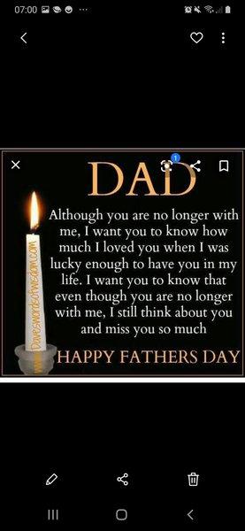 Love you dad my hero . Happy farthers day dad xxxxx