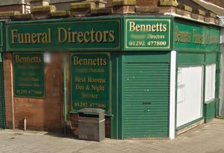 Bennett's Funeral Directors, Prestwick