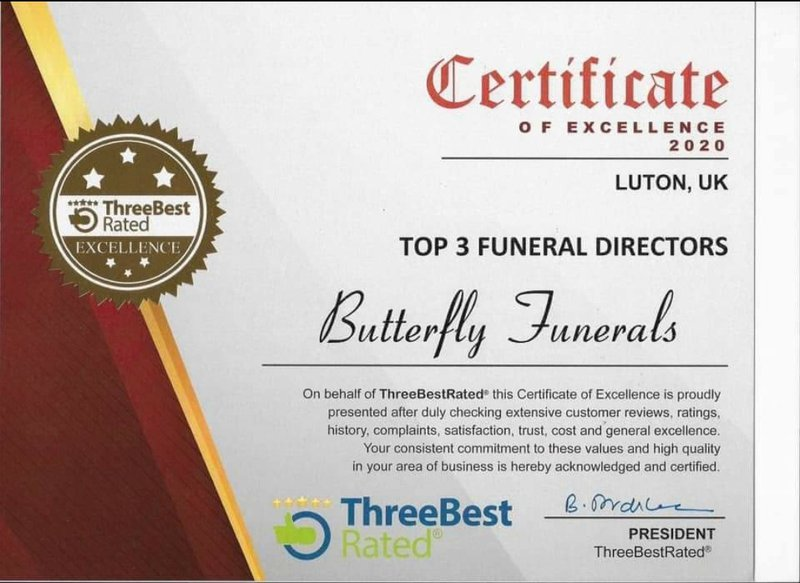 Butterfly Funerals, Bedfordshire, funeral director in Bedfordshire