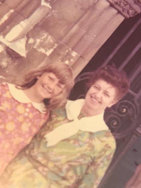Mum and Lin Canterbury 1971