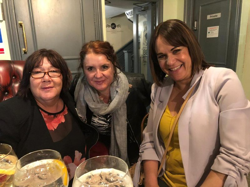 A lovely evening June 19 in 3 wise monkeys and a Colchester Italian restaurant with Anita x