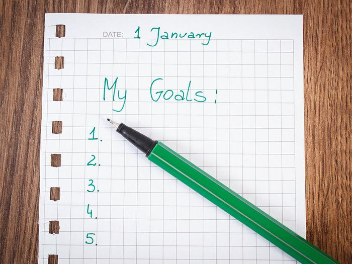 Unfinished New Year's Resolution list