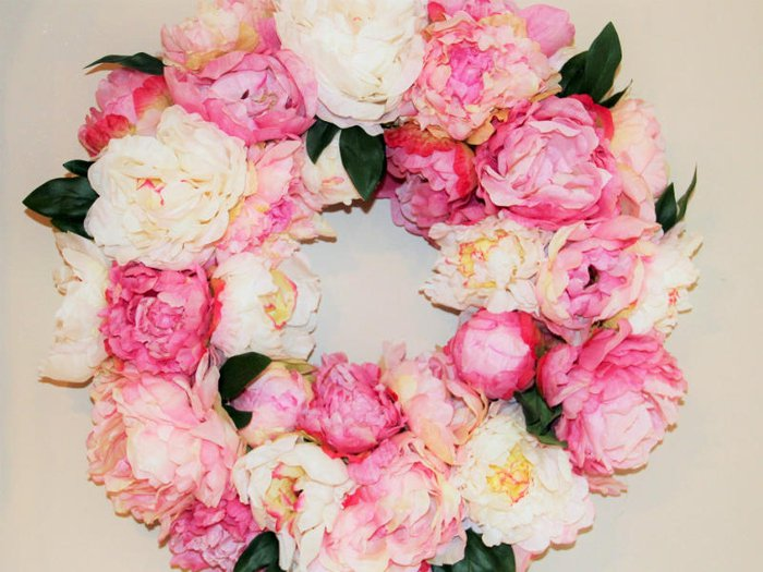 Pink and white flower funeral wreaths