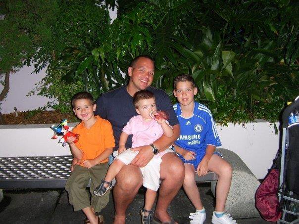 Me and my brothers with my dad in Florida   Remembering all the  good times we had together xxxx