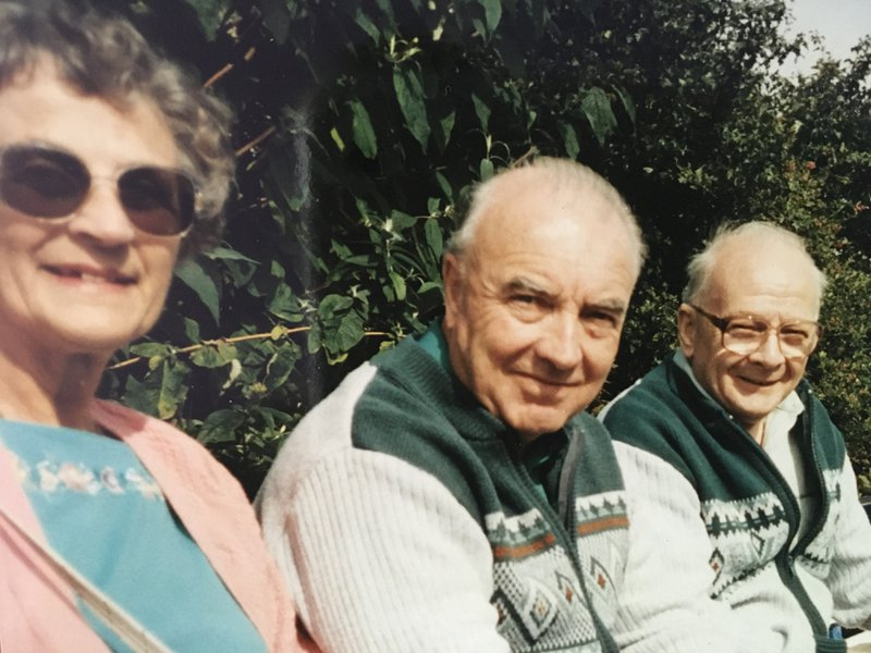 My favourite auntie and uncle with my dad.