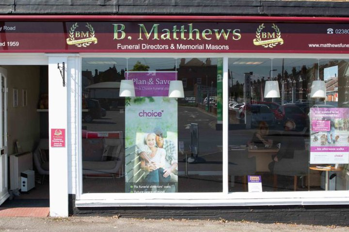 B Matthews Funeral Directors, Shirley
