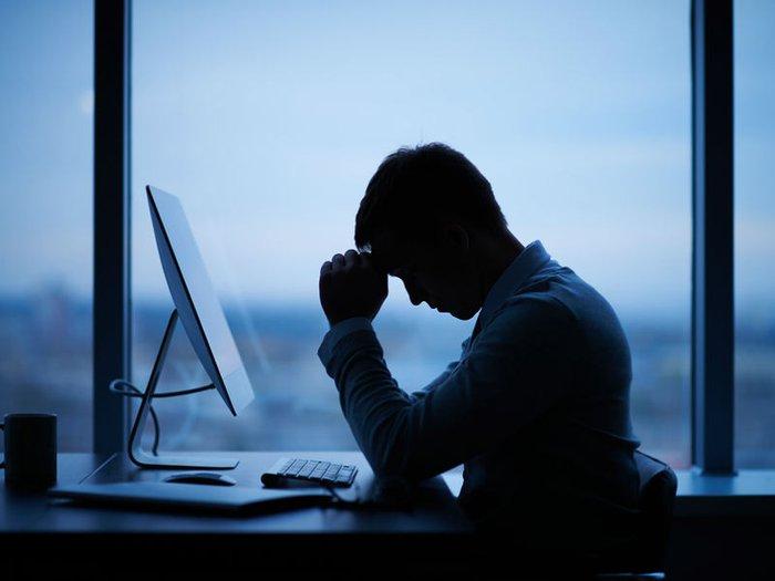 Bereaved employee at work