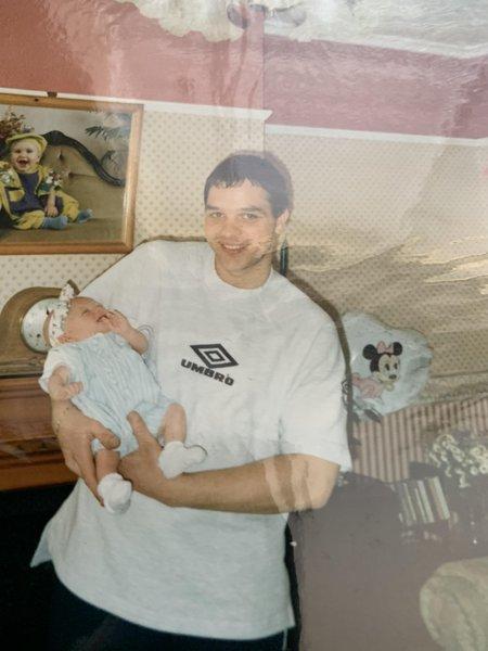 Paul holding Ashley