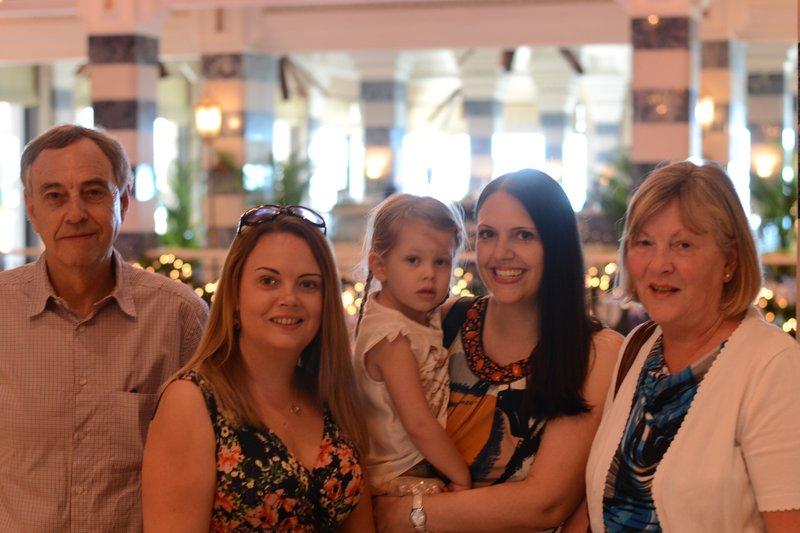 One of many lovely family brunches in Dubai