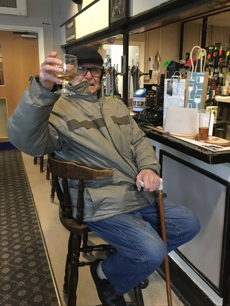 Albert celebrating his 90th Birthday @ the Plaistow Community Centre where he came every week for his pint of Guinness and a few whiskeys or more 😂 Albert was very much Loved by everyone that knew him and he will sadly be missed by us all 💙