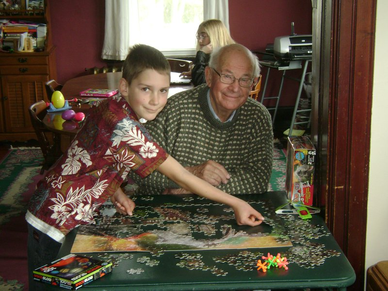 This is Daniel, in RI enjoying a puzzle with Steve.