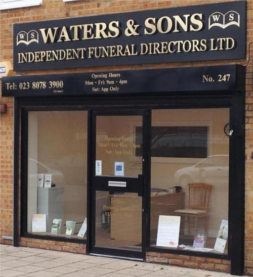 Waters & Sons Independent Funeral Directors Ltd, Aldermoor, Hampshire, funeral director in Hampshire