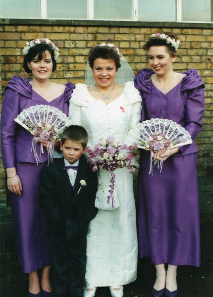 Feeling the cold at my wedding December 1993